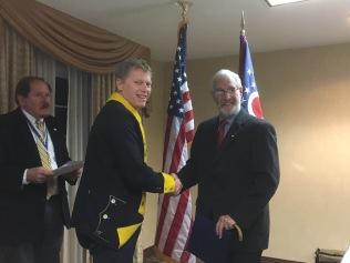 CCSAR President Jack Bredenfoerder, Compatriot Brad Jarard, our new compatriot Michael Mershon