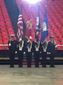 The Miami University ROTC Color Guard