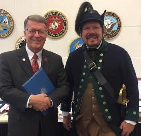 Miami ROTC Souers Award Winner - Ohio State Senator Stephen P. Wilson and Cincinnati SAR President Jack Bredenfoerder