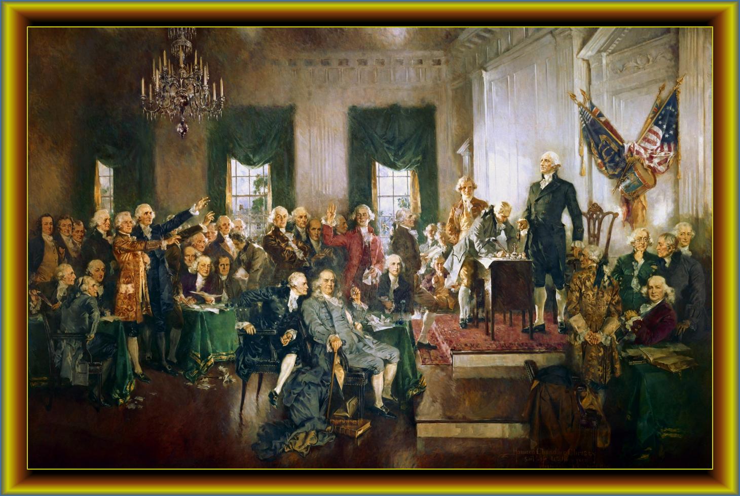 Signing Constitution